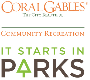 City of Coral Gables Community Recreation It Starts in Parks logo